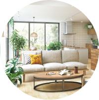自然素材のお家の魅力が実感できます